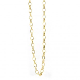 Yellow Gold Oval Rolo Chain