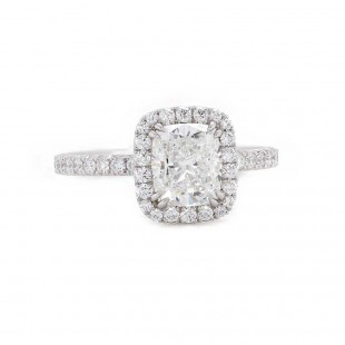 Elongated Cushion Diamond Engagement Ring