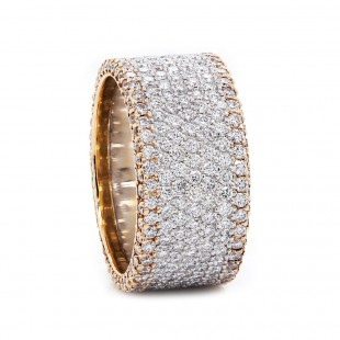 Michael B Flat Diamond Eternity band