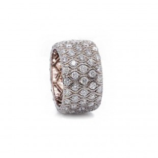 Wide Diamond Eternity Band