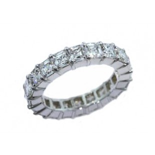 Custom 4.95ctw asscher diamond eternity band