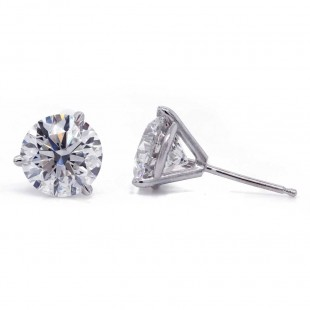 Martini Style Diamond Stud Earrings