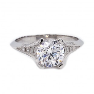 Art Deco Inspired Diamond Engagement Ring