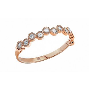 "18k rose gold ""Bubble"" diamond bangle bracelet"