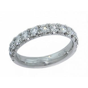 3.0mm wide handmade french pave' diamond band