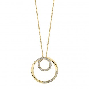 Twist Circle Diamond Pendant