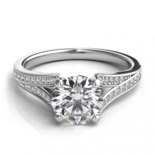 Delicate Split Shank Engagement Ring