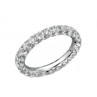 Lattice 3-sided pave diamond eternity band