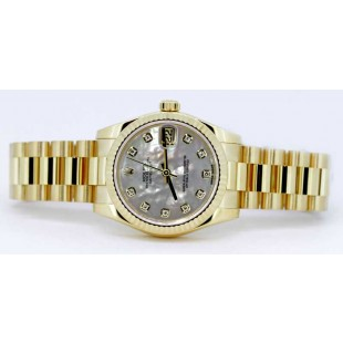 Rolex Datejust President 31mm with Mother of Pearl diamond dial