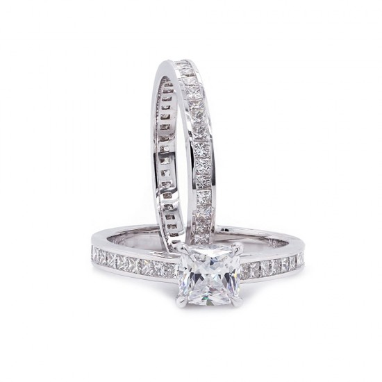 Princess Diamond Wedding Set