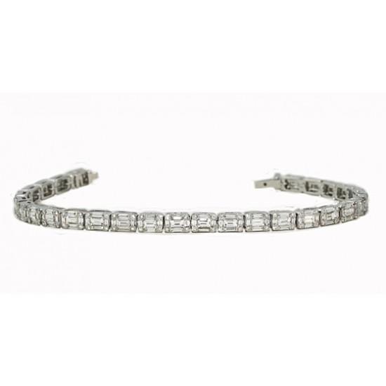 4.62ctw seamless baguette/round diamond bracelet