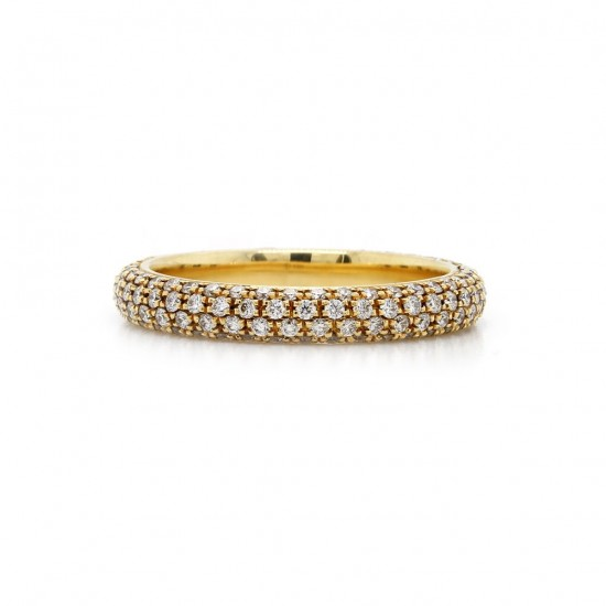 S. Primak Multi Row Pave Band