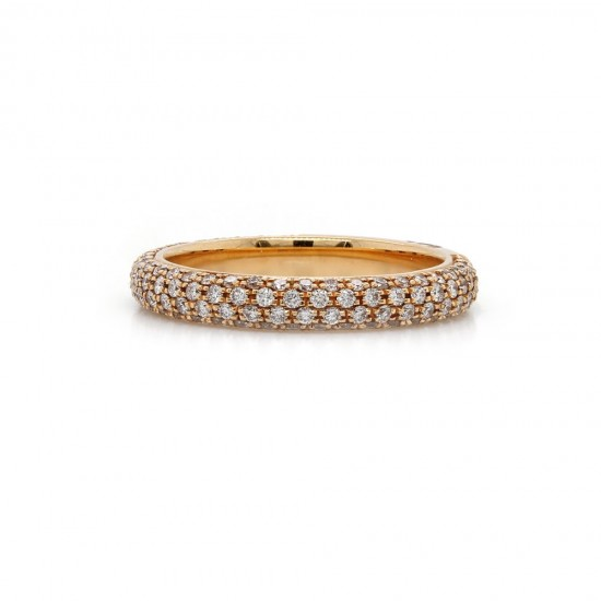 S. Primak Multi Row Pave Ring