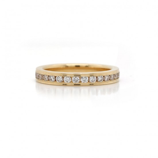 Diamond Channel Eternity Band 0.64 cttw