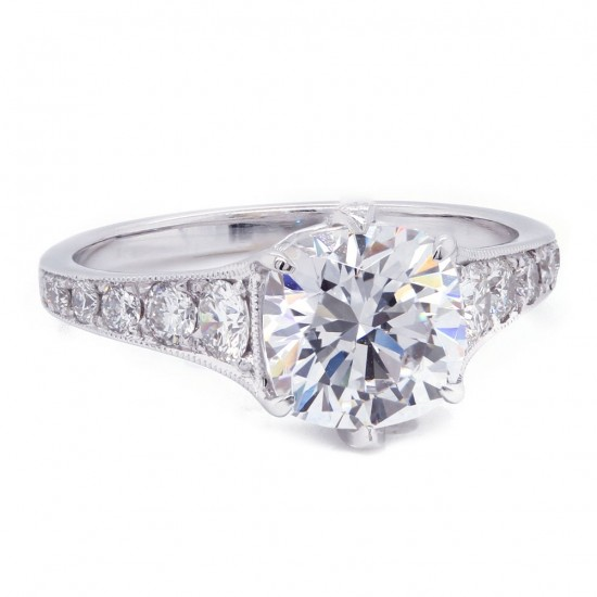 6 Prong Cushion Diamond Engagement Ring