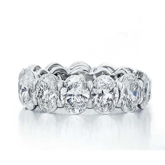 Custom made oval diamond eternity band
