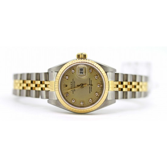 Rolex Lady Datejust in two tone Silver Diamond dial Jubilee Bracelet