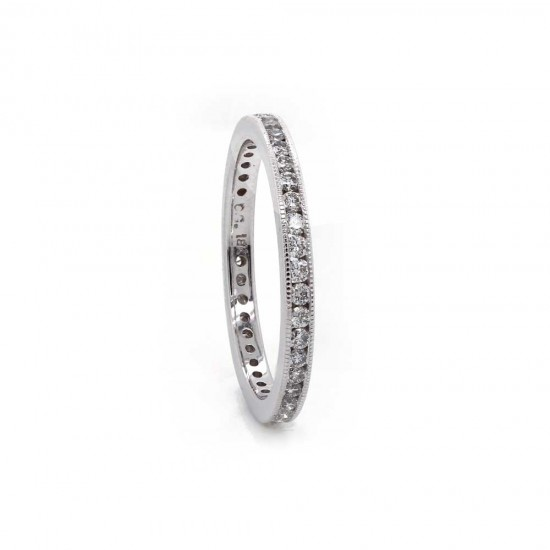 Delicate Channel Set Eternity Band