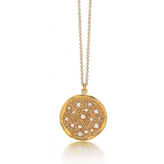 Marika pendant in gold with diamonds