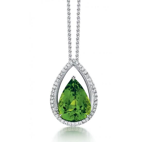 Peridot custom pendant