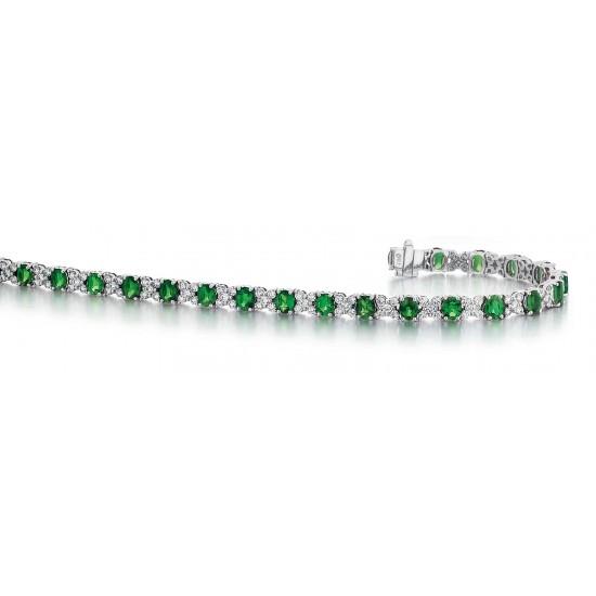 Emerald and Diamond Bracelet