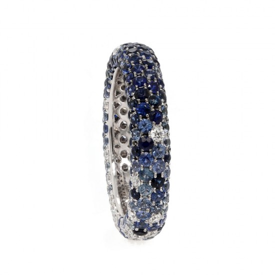 Ombre Sapphire Eternity Band