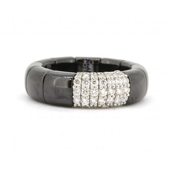 Roberto Demeglio Black Ceramic Pura Ring