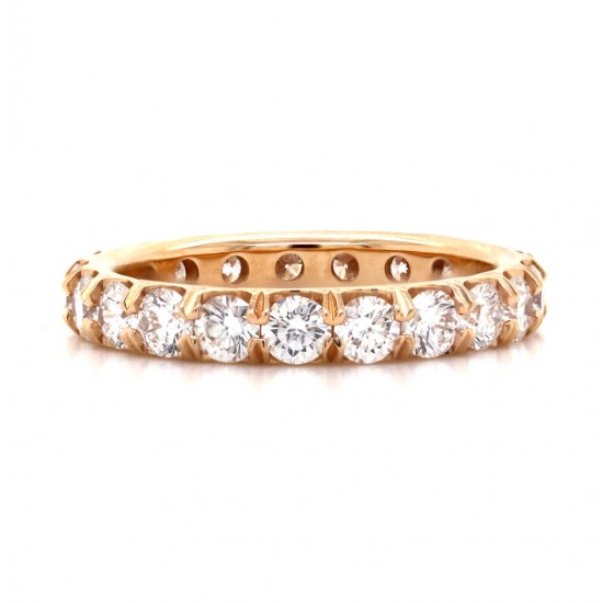 Diamond Shared Prong Eternity Band