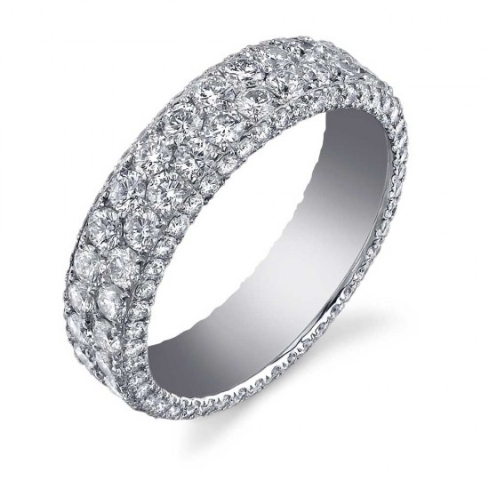 2 Row Diamond Eternity Band
