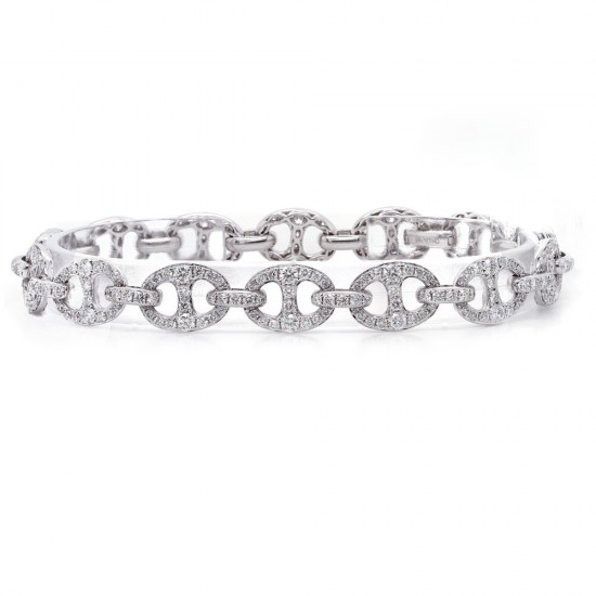 Diamond Pave Anchor Link Bracelet