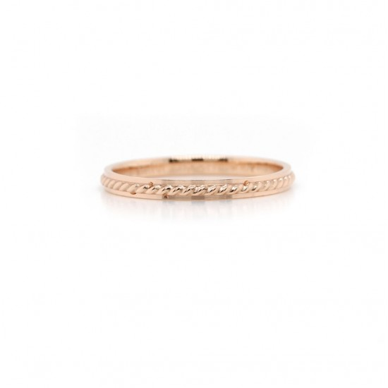 Rose Gold Rope Ring