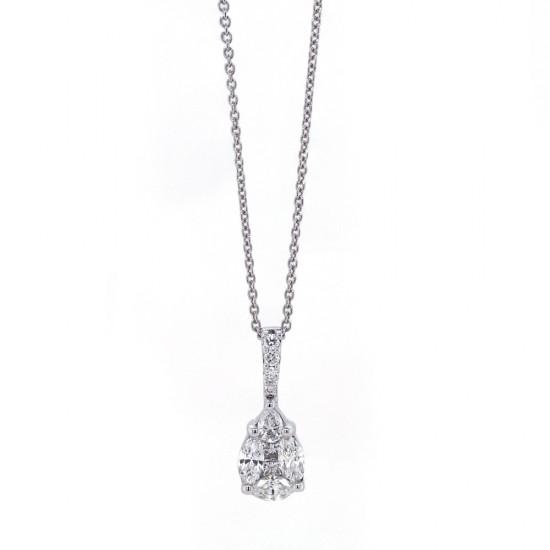 Mosiac Pear Diamond Pendant