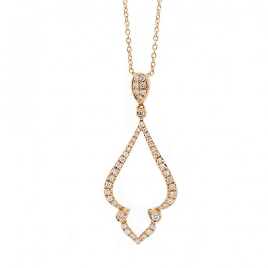 Rose Gold Diamond Drop Pendant
