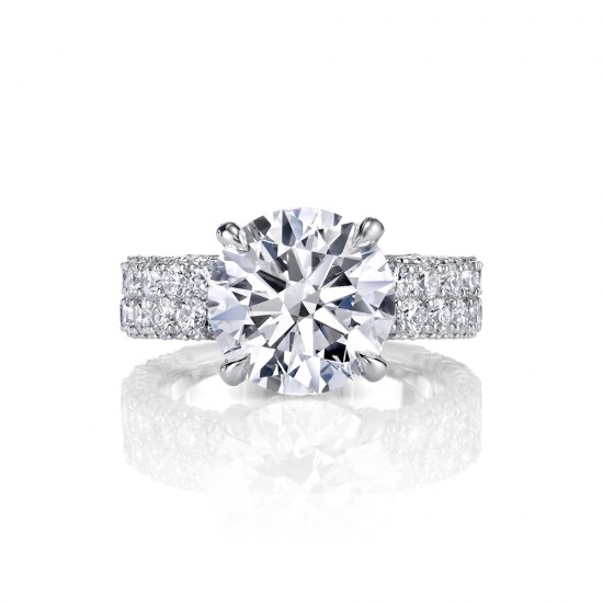 Three Sided Diamond Engagement Ring