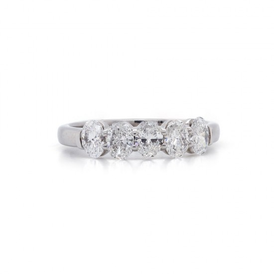 Five Oval Diamond Band 1.01ct twt