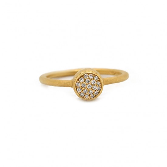 Pave Bezel Diamond Ring