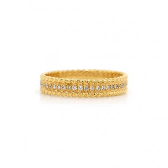 Double Rope Diamond Band