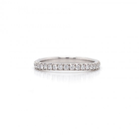 Diamond Pave Curve Band 0.48 cttw