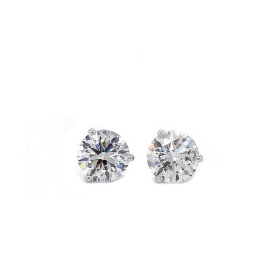 Martini Style Diamond Stud Earrings 4.03 ct