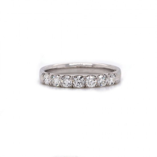 White Gold Shared Prong Diamond Band .55Ct TW