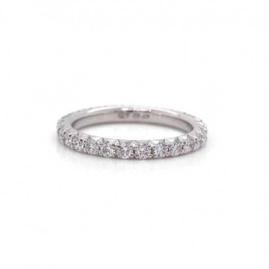 Diamond French Pave Eternity Band 1.24 cttw