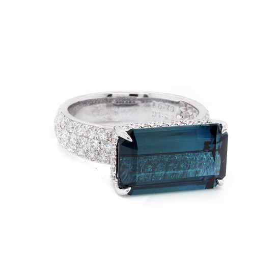 Tourmaline East West Ring