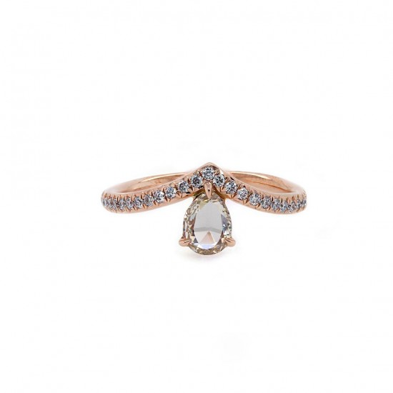 Rose Gold Diamond Tiara Ring