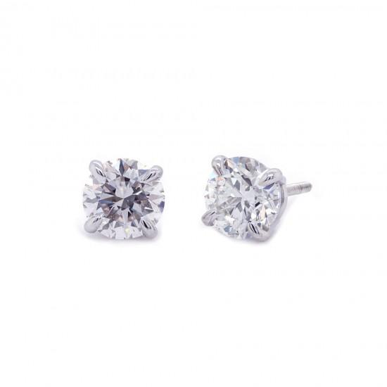 1.40 Carat Diamond Stud Earrings