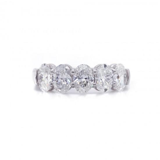 Five Oval Diamond Band 2.00ct twt