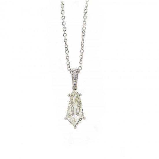 Kite shaped diamond pendant