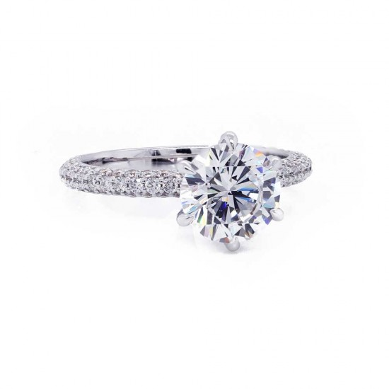 Three Sided Six Prong Engagement Ring