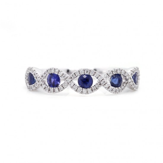 Sapphire and Diamond Infinity Band