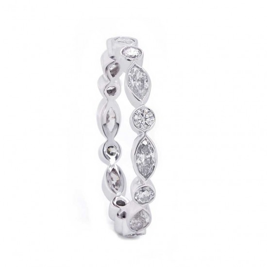 Marquise & Round Diamond Eternity Band