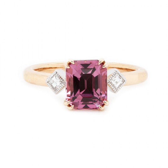 Pastel Pink Spinel Rose Gold Ring